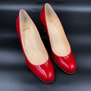 Christian Louboutin's Simple Pump  Red heels
